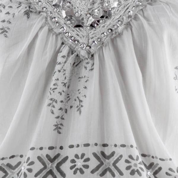 Handmade Cotton 'Silver Sparkle' Blouse (India)