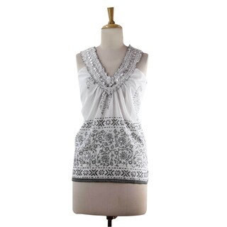 Handmade Cotton 'Silver Sparkle' Blouse (India)|https://ak1.ostkcdn.com/images/products/14636273/P21176142.jpg?_ostk_perf_=percv&impolicy=medium