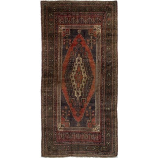 ecarpetgallery Hand-knotted Anatolian Vintage Blue/ Brown Wool Rug (5'1 x 10'2)