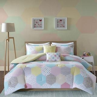 Urban Habitat Kids Evie Yellow/ Pink Cotton Printed Comforter Set