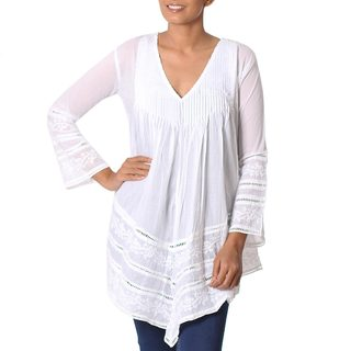 Handmade Cotton 'Amethi Princess' Blouse (India)