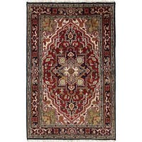 ecarpetgallery Hand-knotted Royal Heriz Red Wool Rug (4' x 6'1)