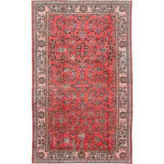 ecarpetgallery Hand-knotted Melis Vintage Red Wool Rug (6'1 x 9'11)