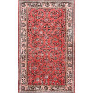 ecarpetgallery Hand-knotted Melis Vintage Red Wool Rug (6'1 x 9'11)