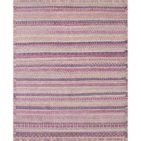 ecarpetgallery Hand-knotted Arlequin Ivory Wool Rug (8' x 10')