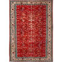 ecarpetgallery Hand-knotted Melis Vintage Red Wool Rug (6'8 x 9'6)