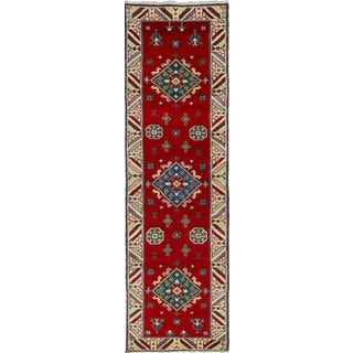 ecarpetgallery Hand-knotted Royal Kazak Red Wool Rug (2'8 x 9'6)