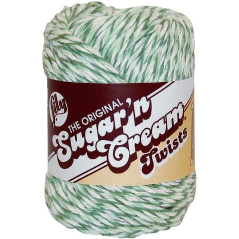 Sugar'n Cream Yarn - Twists-Green