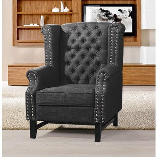 Best Master Furniture Charcoal Fabric Arm Chair