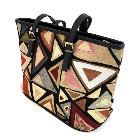 Red Pomegranate Origami 13-inch Travel Tote Bag