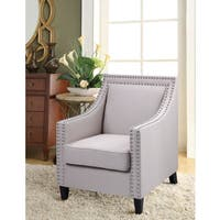 Best Master Furniture Upholstered Fabric with Nail Head Studs Accent Arm Chair