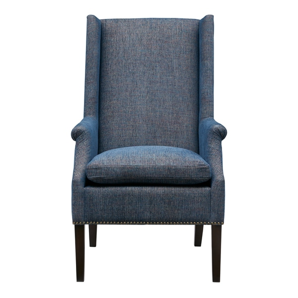 Shop Madison Park Gage Blue Multi Accent Chair Free
