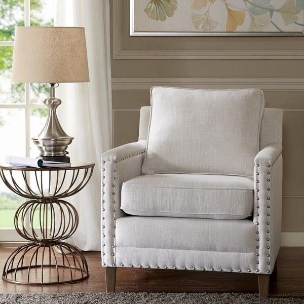 Madison Park Lotte Grey Accent Chair. Opens flyout.