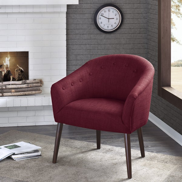 Madison Park Kyrin Brick Barrel Back Accent Chair. Opens flyout.