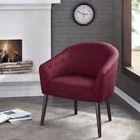 Madison Park Kyrin Brick Barrel Back Accent Chair