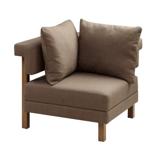 INK+IVY Max Natural Corner Sectional Chair