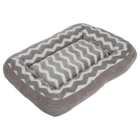 Snoozzy Low Bumper Zig Zag Pet Bed