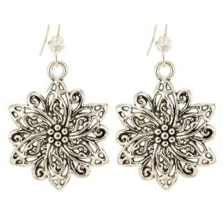 Handmade Ardent Designs Sterling Silver Crystal Alatariel Earrings (United States)