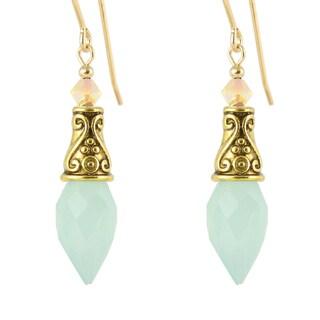Evania Chalcedony Teardrop Earrings