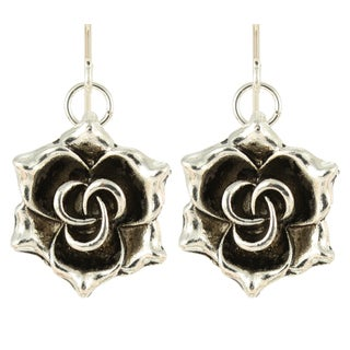 Handmade Silver Flora Earrings (United States)