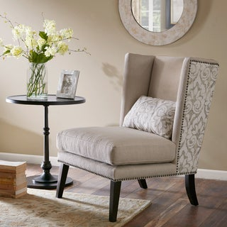 Bon Madison Park Ella Tan Multi Accent Chair