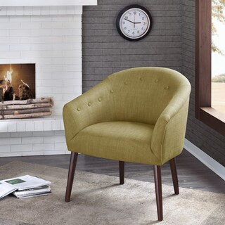 Madison Park Kyrin Green Barrel Back Accent Chair