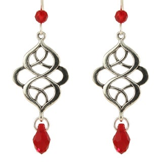 Ardent Designs Sterling Silver 'Crystals in the Evening Breeze' Dangling Earrings