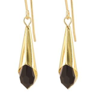 Falling Star Crystal Teardrop Earrings