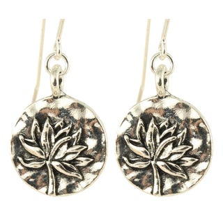 Handmade Lovely Lotus Dangling Earrings (United States)