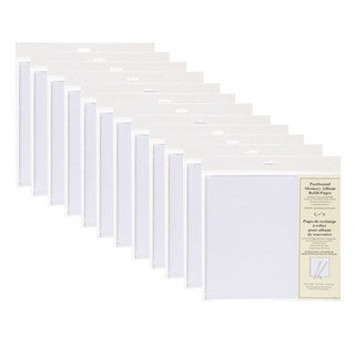 DesignOvation Postbound 12 x 12 Memory Scrapbook Refill Pages 5 Pack (Set of 12)