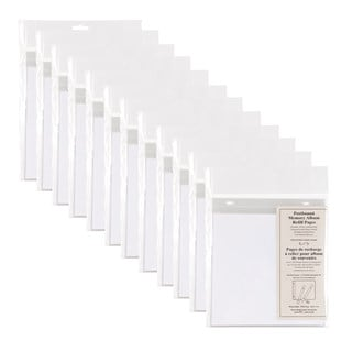 DesignOvation Postbound 8 x 8-inch Memory Scrapbook 10-pack Refill Pages (Pack of 12)