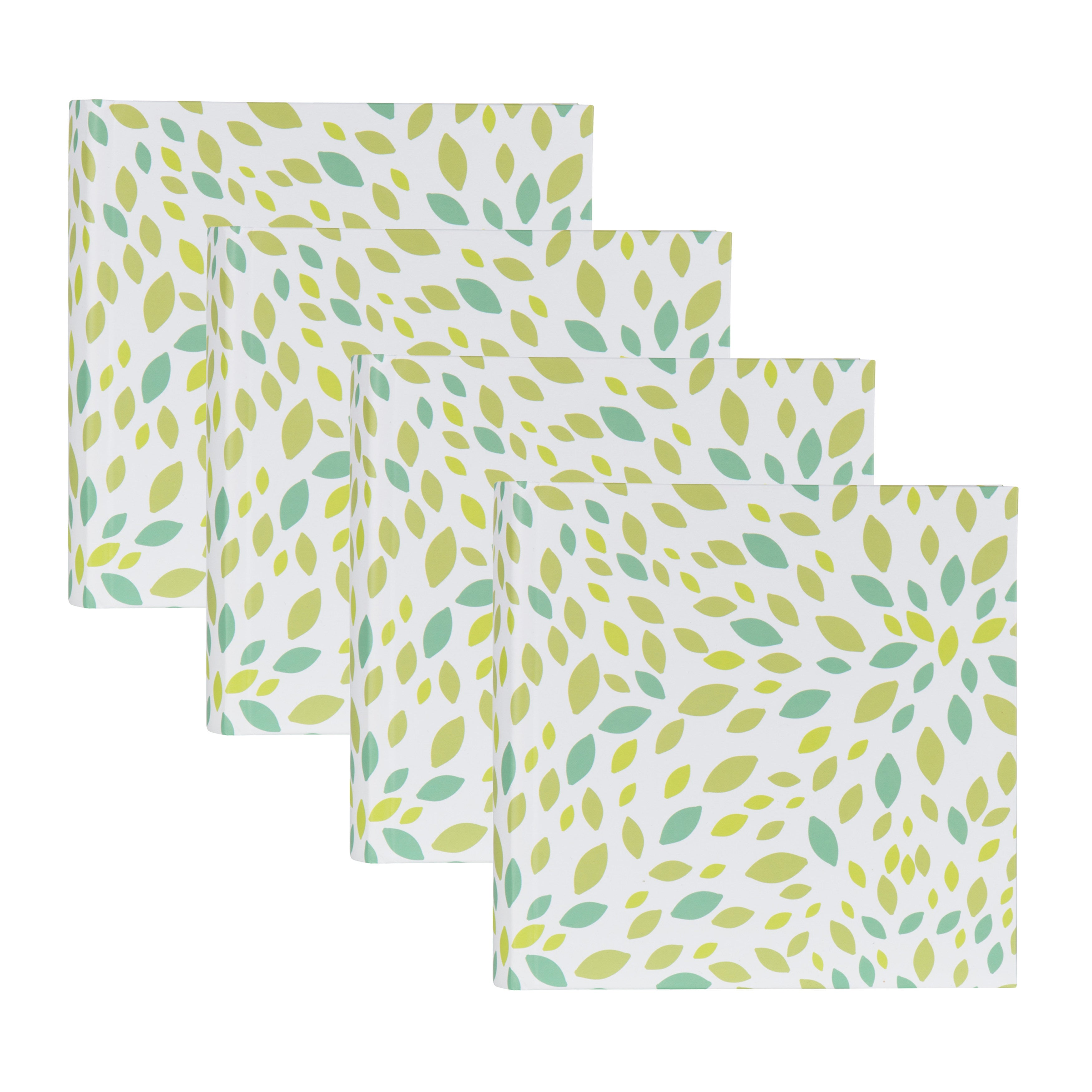 DesignOvation Leaves Blue and Green Pattern Photo Album (...