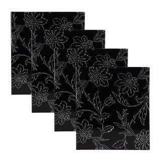 DesignOvation Cindy Black and White Photo Album (Pack of 4)