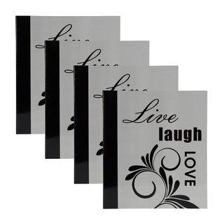 DesignOvation 'Live, Laugh, Love' Expression 4 x 6 Photo Album (Set of 4)