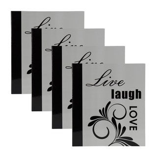 DesignOvation 'Live, Laugh, Love' Expression 4 x 6 Photo Album (Set of 4)