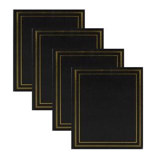 DesignOvation Traditional Photo Album, Holds 440 4x6 Photos (Set of 4)