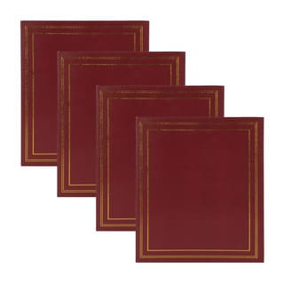 DesignOvation Traditional Burgundy Photo Album, Holds 440 4 x 6 Photos (Set of 4)