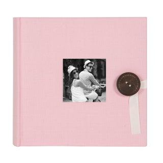 DesignOvation Kim Fabric Photo Album Holds 200 4 x 6 Photos (Set of 4) - 200 photos