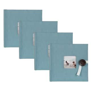 DesignOvation Kim Teal Fabric Photo Album Holds 200 4 x 6 Photos (Set of 4)|https://ak1.ostkcdn.com/images/products/14636805/P21176600.jpg?impolicy=medium
