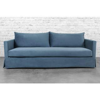 Morgan Slate Blue Slipcovered Sofa