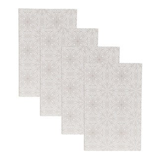 DesignOvation Mandala White Photo Album (Pack of 4)