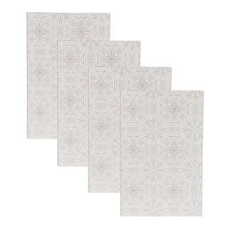 DesignOvation Mandala White Photo Album (Pack of 4)