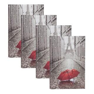 DesignOvation Paris with Red Umbrella Photo Album (Pack of 4)