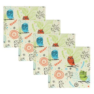 DesignOvation Hoot Owls Multicolored 200 4-inch x 6-inch Photo Album (Pack of 4)