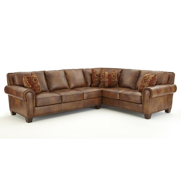 Shop Sanremo Top Grain Leather Sectional Sofa By Greyson Living - San-remo-contemporary-leather-sofa