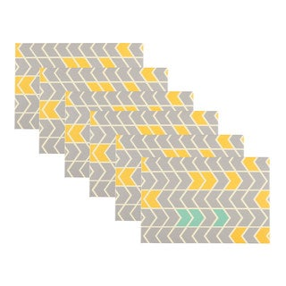 DesignOvation Chevron Grey and Yellow 4 x 6 Photo Album (Set of 6)