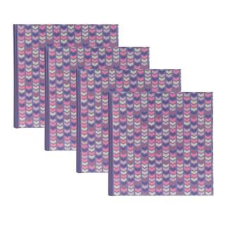 DesignOvation Pink/Purple Paper/Plastic Chevron Photo Album (Set of 4)