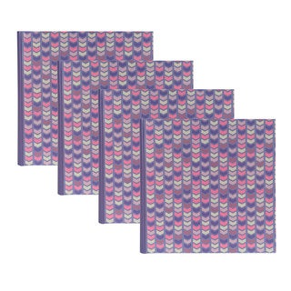 DesignOvation Pink/Purple Paper/Plastic Chevron Photo Album (Set of 4)