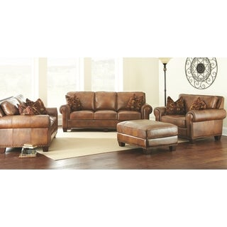 Sanremo 4-Piece Top Grain Leather Sofa Set by Greyson Living