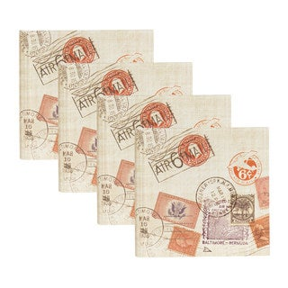 DesignOvation Passport Stamps Travel 4x6 Photo Album (Set of 4)